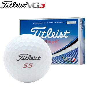 新品未使用タイトリストVG3ホワイトオーバーランボール12球1ダース箱なしアウトレットTitleist