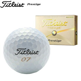 新品未使用 タイトリスト プレステージ ゴールドパール オーバーランボール 12球1ダース 箱なしアウトレットPrestige Titleist