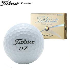 新品未使用 タイトリスト プレステージ ホワイト オーバーランボール 12球1ダース 箱なしアウトレットPrestige Titleist