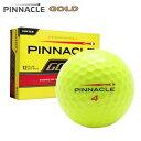 新品未使用 ピナクル ゴールド イエロー オーバーランボール 12球1ダース 箱なしアウトレット Gold PINNACLE