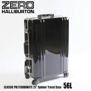 """ゼロハリバートン クラシック ポリカーボネイト 25"""" Spinner Travel Case 56L ZRF225 Black 80563 CLASSIC POLYCARBONATEスーツケース ZERO HALLIBURTON"""