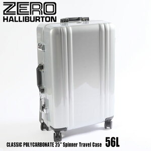 """ゼロハリバートン クラシック ポリカーボネイト 25"""" Spinner Travel Case 56L ZRF225 Silver 80563 CLASSIC POLYCARBONATEスーツケース ZERO HALLIBURTON"""