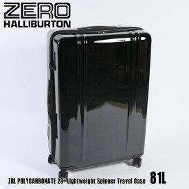 """ゼロハリバートン ZRL ポリカーボネイト 28"""" Lightweight Spinner Travel Case 81L ZTL28 Black 80584 ZRL POLYCARBONATEスーツケース ZERO HALLIBURTON"""