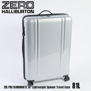 """訳あり ゼロハリバートン ZRL ポリカーボネイト 28"""" Lightweight Spinner Travel Case 81L ZTL28 Silver 80584 ZRL POLYCARBONATEスーツケース ZERO HALLIBURTON"""