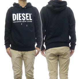 (ディーゼル)DIESEL メンズプルオーバーパーカー S-GIR-HOOD-DIVISION-LOGO / 00SAQJ 0BAWT ブラック /2020秋冬新作