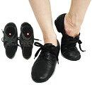 革製ローカットプリーツジャズダンスシューズ20.0〜25.5cm