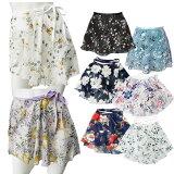 花柄シフォン巻きスカート単品