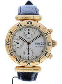 ジェラルド・ジェンタ  GERALD GENTA クロノグラフ イエローゴールド メンズ 腕時計 金無垢 G3271.7 送料無料【トレジャースポット】【中古】
