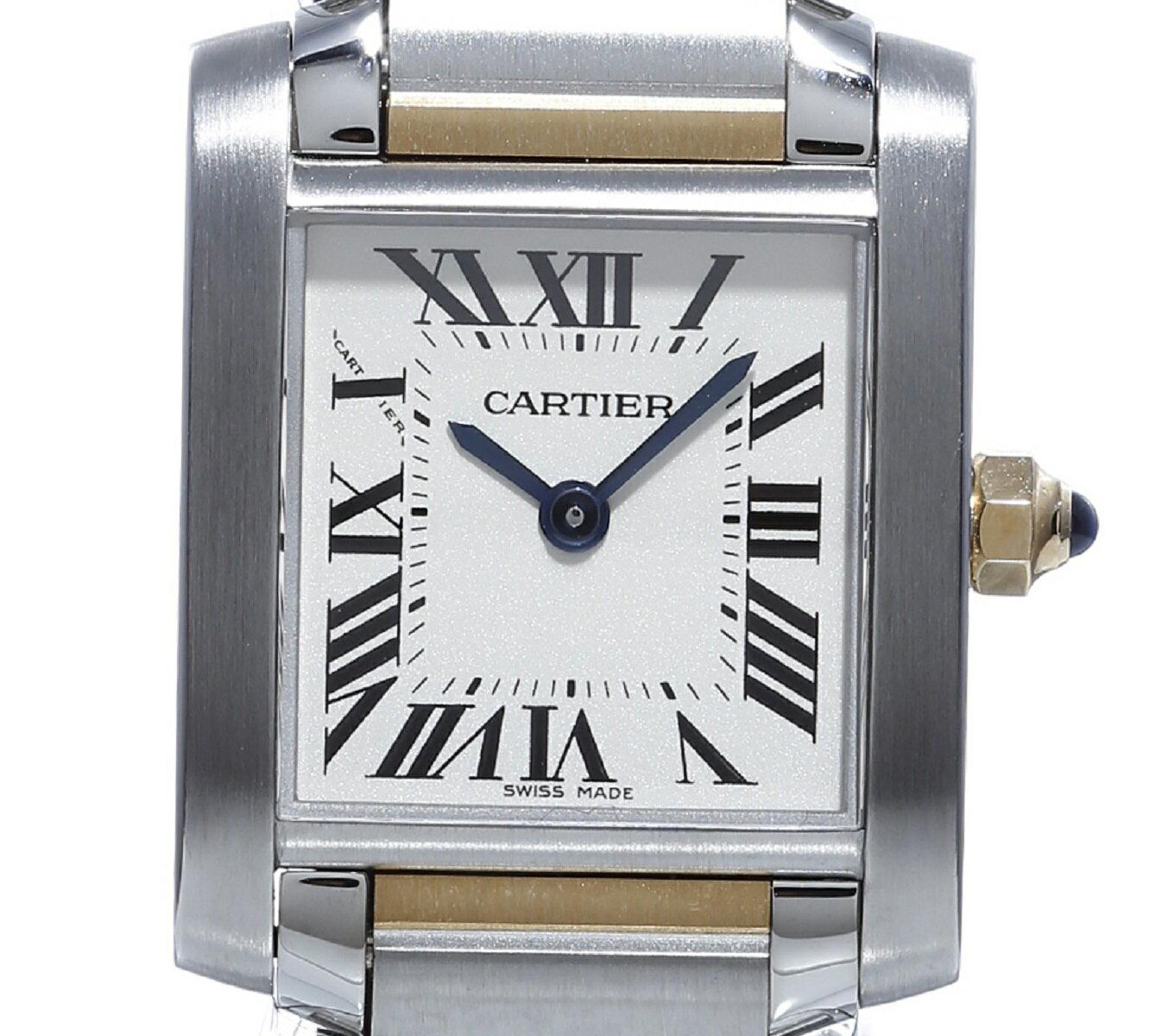 カルティエ Cartier タンクフランセーズ W51007Q4 SS/YG Qz レディース 保証書(無地) 専用箱 送料無料 未使用展示品 【トレジャースポット】