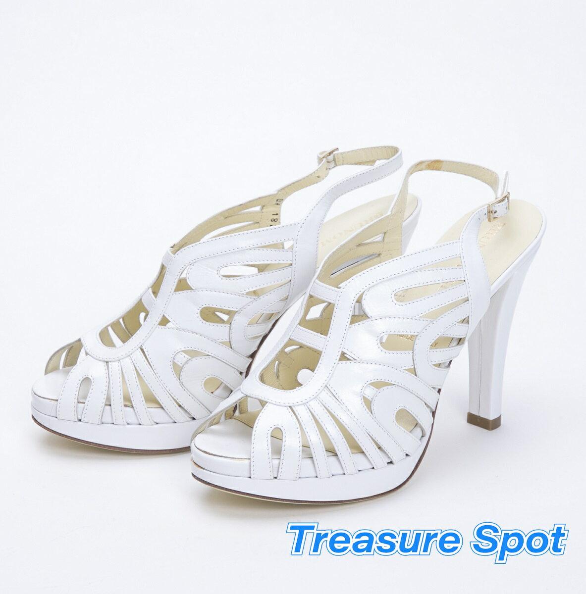 ブルーノマリ BRUNO MAGLI サンダル ホワイト 白 #36 約23cm レディース 靴【トレジャースポット】【新品同様品】