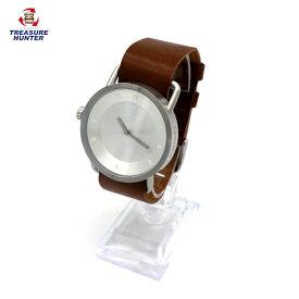【中古】TID Watches No.1ティッドウォッチ 腕時計 シルバー レザーバンド 【102319】