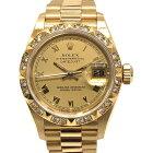 【中古】ROLEX ロレックス デイトジャスト 69258 ピラミッドダイヤベゼル X番 24Pダイヤ YG 自動巻き レディース 腕時計 【061020】