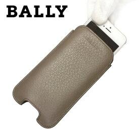 バリー スマートフォンケース BALLY 6184540 MISSINO/155 ダークグレー DARK FLINT CALF GRAINED メンズ レディース 革 カーフレザー スマホ iPhone5/5s ギフト