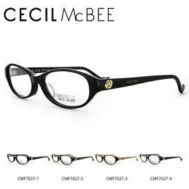 セシルマクビー メガネフレーム おしゃれ老眼鏡 伊達メガネ リーディンググラス 眼精疲労 CECIL McBEE 伊達 眼鏡 CMF7027 全4カラー レディース ファッションメガネ