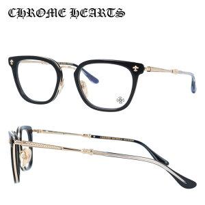 クロムハーツ メガネフレーム おしゃれ老眼鏡 PC眼鏡 スマホめがね 伊達メガネ リーディンググラス 眼精疲労 Chrome Hearts 眼鏡 CHROME HEARTS STRAPADICTOME BK/GP 51 スクエア メンズ レディース