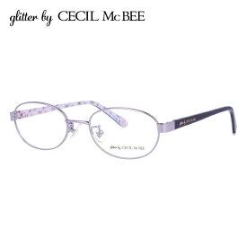 グリッターバイセシルマクビー メガネフレーム おしゃれ老眼鏡 PC眼鏡 スマホめがね 伊達メガネ リーディンググラス 眼精疲労 アジアンフィット glitter by CECIL McBEE GCF 3501-2 50サイズ オーバル レディース