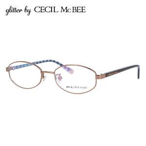 グリッターバイセシルマクビー メガネフレーム おしゃれ老眼鏡 PC眼鏡 スマホめがね 伊達メガネ リーディンググラス 眼精疲労 アジアンフィット glitter by CECIL McBEE GCF 3502-3 50サイズ オーバル