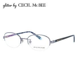 グリッターバイセシルマクビー メガネフレーム おしゃれ老眼鏡 PC眼鏡 スマホめがね 伊達メガネ リーディンググラス 眼精疲労 アジアンフィット glitter by CECIL McBEE GCF 3503-1 49サイズ オーバル レディース