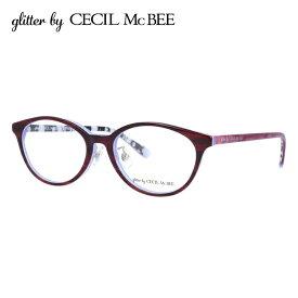 グリッターバイセシルマクビー メガネフレーム おしゃれ老眼鏡 PC眼鏡 スマホめがね 伊達メガネ リーディンググラス 眼精疲労 アジアンフィット glitter by CECIL McBEE GCF 7501-1 51サイズ オーバル レディース