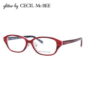 グリッターバイセシルマクビー メガネフレーム おしゃれ老眼鏡 PC眼鏡 スマホめがね 伊達メガネ リーディンググラス 眼精疲労 アジアンフィット glitter by CECIL McBEE GCF 7502-3 51サイズ オーバル レディース