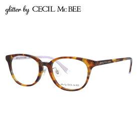 グリッターバイセシルマクビー メガネフレーム おしゃれ老眼鏡 PC眼鏡 スマホめがね 伊達メガネ リーディンググラス 眼精疲労 アジアンフィット glitter by CECIL McBEE GCF 7504-2 50サイズ ウェリントン レディース