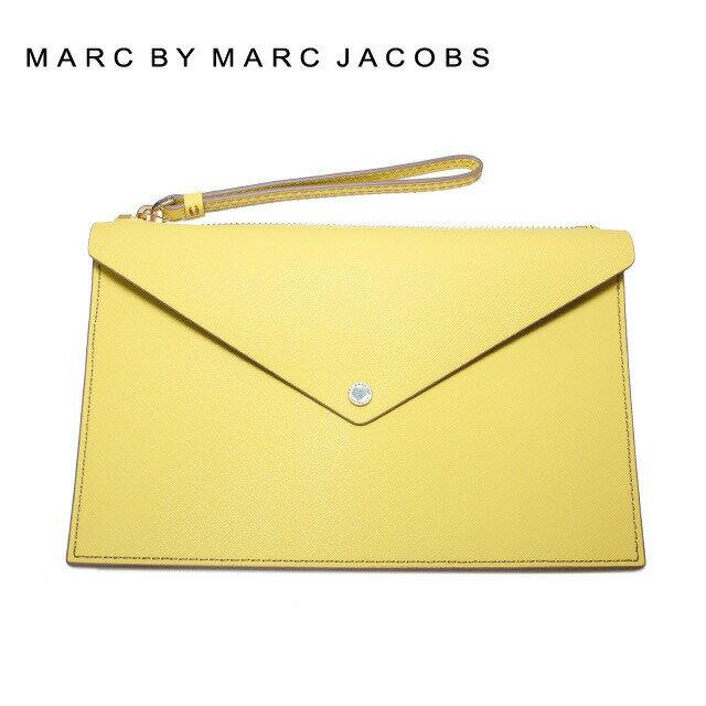 マークバイマークジェイコブス バッグ MARC BY MARC JACOBS クラッチバッグ MBMJ M0006060 Large Envelope Zip Pouch Color 744 イエロー系 Banana Creme Multi レディース 革