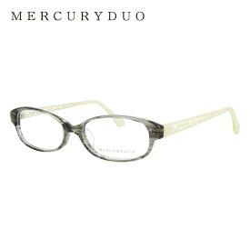 マーキュリーデュオ メガネフレーム おしゃれ老眼鏡 PC眼鏡 スマホめがね 伊達メガネ リーディンググラス 眼精疲労 アジアンフィット MERCURYDUO MDF8017-4 52サイズ オーバル レディース