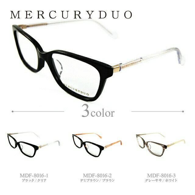 マーキュリーデュオ メガネ MERCURYDUO 伊達 眼鏡 MDF8016 全3カラー レディース ブランドメガネ ダテメガネ ファッションメガネ 伊達レンズ無料(度なし・UVカット)