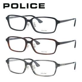 ポリス メガネフレーム おしゃれ老眼鏡 PC眼鏡 スマホめがね 伊達メガネ リーディンググラス 眼精疲労 POLICE VPL848J 全3カラー 54サイズ スクエア ユニセックス メンズ レディース