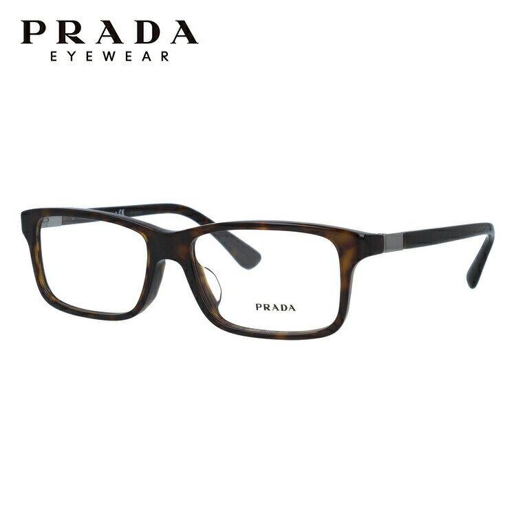 プラダ PRADA 眼鏡 国内正規品 PR06SVF 2AU1O1 56 ハバナ アジアンフィット レディース メンズ 【スクエア型】