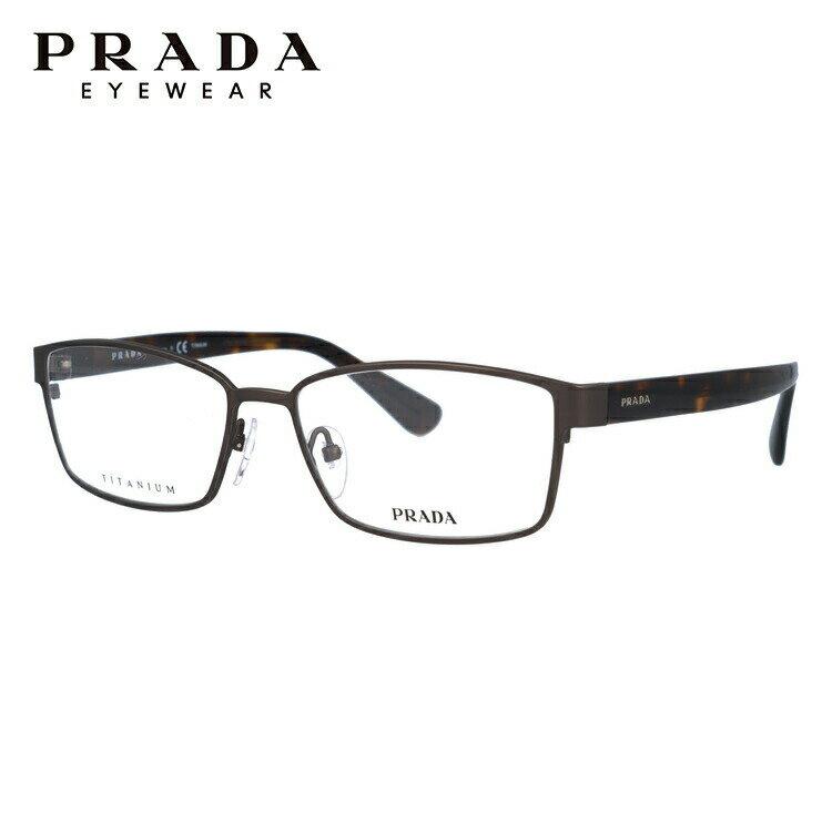プラダ PRADA 眼鏡 国内正規品 PR50SV IAK1O1 56 マットブラウン/ハバナ アジアンフィット レディース メンズ 【スクエア型】