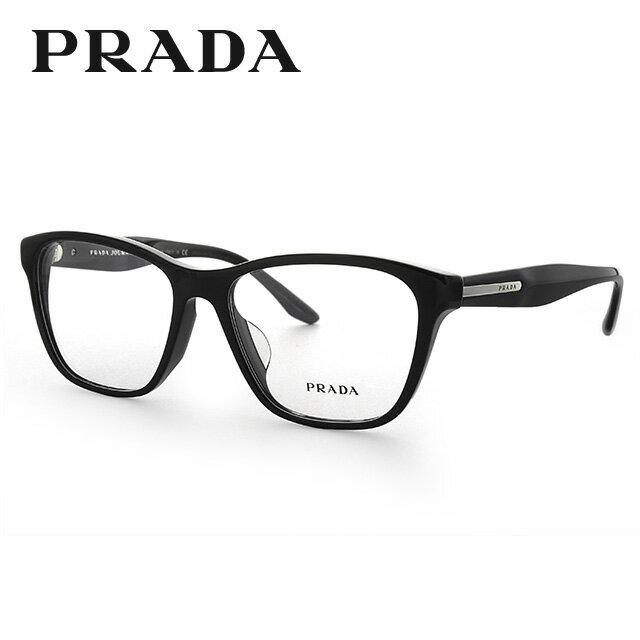 プラダ 眼鏡 国内正規品 PRADA プラダジャーナル PR04TVF 1AB1O1 54 ブラック アジアンフィット レディース 【ウェリントン型】