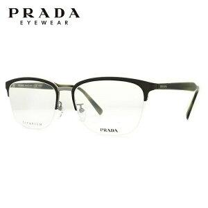 プラダ メガネフレーム おしゃれ老眼鏡 PC眼鏡 スマホめがね 伊達メガネ リーディンググラス 眼精疲労 PRADA PR57TVD U6C1O1 55サイズ 国内正規品 ブロー ユニセックス メンズ レディース
