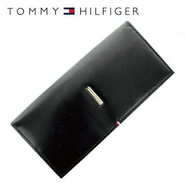 トミーヒルフィガー 財布 TOMMY HILFIGER 長財布 31TL19X012-001 (0092-5167/01) ブラック (小銭入れ有) 財布 ウォレット サイフ レザー(革) メンズ 男性 トミー シンプル
