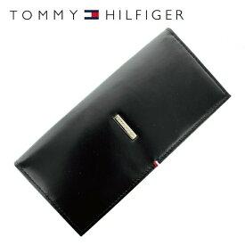 【訳あり】トミーヒルフィガー 財布 TOMMY HILFIGER 長財布 31TL19X012-001 (0092-5167/01) ブラック (小銭入れ有) 財布 ウォレット サイフ レザー(革) メンズ 男性 トミー シンプル ワケあり 難あり ギフト