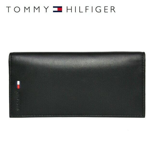 トミーヒルフィガー 財布 TOMMY HILFIGER 長財布 31TL19X015-001 (0092-5473/01) ブラック (小銭入れ有) 財布 ウォレット サイフ レザー(革) メンズ 男性 トミー シンプル