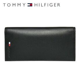 トミーヒルフィガー 財布 TOMMY HILFIGER 長財布 31TL19X015-001 (0092-5473/01) ブラック (小銭入れ有) 財布 ウォレット サイフ レザー(革) メンズ 男性 トミー シンプル ギフト