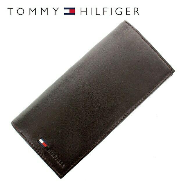 トミーヒルフィガー 財布 TOMMY HILFIGER 長財布 31TL19X015-200 (0092-5473/02) ブラウン(ビターチョコレート) (小銭入れ有) 財布 ウォレット サイフ レザー(革) メンズ 男性 トミー シンプル