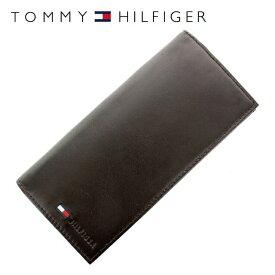トミーヒルフィガー 財布 TOMMY HILFIGER 長財布 31TL19X015-200(0092-5473/02) ブラウン(ビターチョコレート) (小銭入れ有) 財布 ウォレット サイフ レザー(革) メンズ 男性 トミー シンプル ギフト