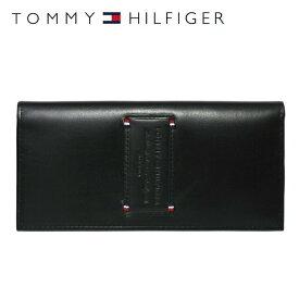 トミーヒルフィガー 財布 TOMMY HILFIGER 長財布 31TL19X017-001(0092-5640/01) ブラック (小銭入れ有) 財布 ウォレット サイフ レザー(革) メンズ 男性 トミー シンプル ギフト