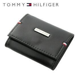 トミーヒルフィガー 財布 TOMMY HILFIGER コインパース コインケース 小銭入れ 31TL25X025-001(0096-5321/01) ブラック 財布 ウォレット サイフ レザー(革) メンズ 男性 トミー シンプル ギフト