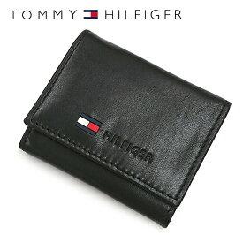 トミーヒルフィガー 財布 TOMMY HILFIGER コインパース コインケース 小銭入れ 0096-5476/01(31TL25X017-001) ブラック 財布 ウォレット サイフ レザー(革) メンズ 男性 トミー シンプル ギフト