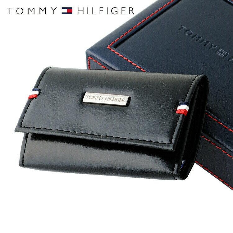 トミーヒルフィガー TOMMY HILFIGER キーケース 31TL17X011-001 (0094-5168/01) ブラック (6キーホック) レザー(革) メンズ 男性 トミー シンプル