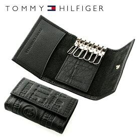 トミーヒルフィガー TOMMY HILFIGER キーケース 31TL17X016-001(0094-5646/01) ブラック (6キーホック) レザー(革) メンズ 男性 トミー シンプル ギフト