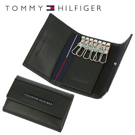 トミーヒルフィガー TOMMY HILFIGER キーケース 31TL17X017-001(0094-5692/01) ブラック (6キーホック) レザー(革) メンズ 男性 トミー シンプル ギフト