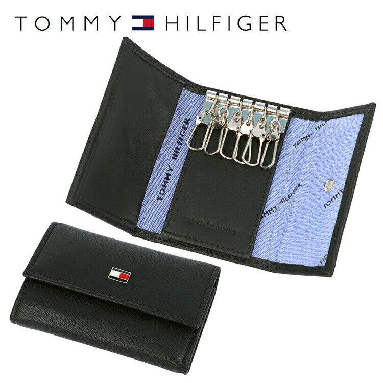 トミーヒルフィガー TOMMY HILFIGER キーケース 31TL17X002-001 (0094-4510/01) ブラック (6キーホック) レザー(革) メンズ 男性 トミー シンプル