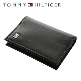 トミーヒルフィガー カードケース TOMMY HILFIGER 名刺入れ 31TL20X011-001(0096-4512/01) ブラック レザー(革) メンズ 男性 トミー シンプル ギフト