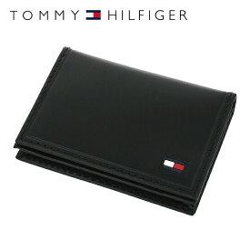 トミーヒルフィガー カードケース・名刺入れ TOMMY HILFIGER 31TL20X021-001(0096-5245/01) レザー(革) メンズ 男性 トミー シンプル ギフト