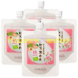 どろ豆乳石鹸 どろあわわ 桃泥 洗顔料 110g 4個セット健康コーポレーション