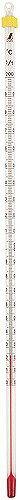 【シンワ】 棒状温度計 バラ アルコール H-2S 0〜200℃ 30cm ≪72747≫